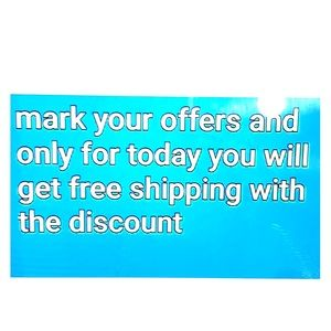 Other - FREE SHIPPING ON ALL YOUR OFFERS !!!!